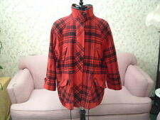 Vintage Red and black  flannel oversize grunge Forenza 1990s coat jacke size 10