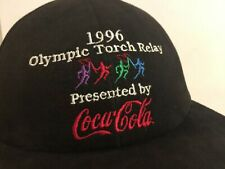 NWOT 1996 ATLANTA USA OLYMPIC TORCH RELAY STARTER ATLANTA SNAPBACK CAP HAT PRINT