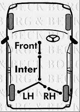BKB2748 BORG & BECK BRAKE CABLE- RH REAR fits Ford Transit van fits FWD 2003-