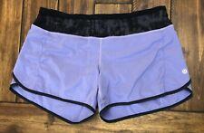 "Lululemon Turbo Run Shorts 4.5"" Inseam Lavender Purple Size 8 *Stains"