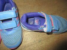 Baskets bleu et roses Adidas pointure 28