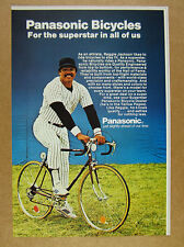 1981 Panasonic Bicycle Bike reggie jackson photo vintage print Ad