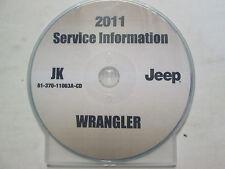 2011 JEEP WRANGLER Service INFORMATION Shop Repair Manual CD DVD OEM BRAND NEW