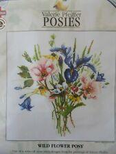 """Cross stitch Kit Valerie Pfeiffer Posies """" Wild Flower Posy """" New by Heritage"""