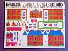 Rare Imagerie d'Epinal Pellerin 6 Historic Building Models INV2527