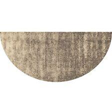 Salonloewe Fußmatte randlos Ronny Stripes taupe Halbrund 42x85 cm waschbar