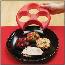 Plastic Food Portions Control Meal Measure Cup Molder Tray Dinner Plate Diet Aid