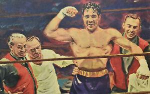 Max Baer Wins Boxing Match-Art Print by John Cullen Murphy- Sports-Valiant D1