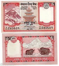 Nepal Billet 5 RUPES 2009 NEW NOUVEAU EVEREST NEUF UNC