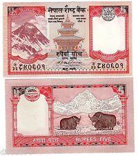Nepal Billet 5 RUPES 2009 NEW NOUVEAU EVEREST NEUF UNC