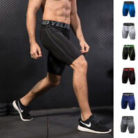 Mens Compression Shorts Tight fit Quick-dry Moisture Wicking Workout Gym Bottoms
