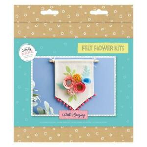 Docrafts Simply Make Needle Felting Floral Wall Hanging Kit DSM 108081