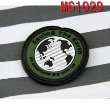 Outdoor Sport Saving the Earth Design Rubber Magic Military Patch Badge Patches