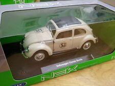 Welly codice 3 VW Beetle Herbie pressofusione modello auto BEIGE N. 53 1959 1:18 TH scala
