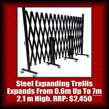 7m EXPANDABLE STEEL TRELLIS/BARRIER/BARRICADE/GATE/FENCE. 2.1m High, Expanding