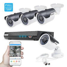 Home Security Camera System UPDATED HDMI AHD DVR 4 CH 720P 1.3MP Indoor/Outdoor