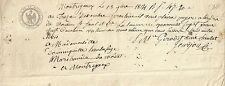 PAPIER ANCIEN PARCHEMIN PROMESSE DE PAIEMENT CESSION DE CREANCES MONTREJEAU 1814