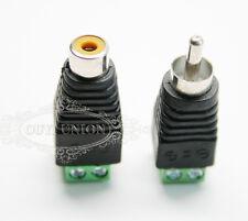 20pc RCA Phono Female+Male Plug TO AV Screw Connector Terminal Video AV Balun