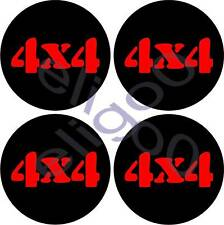 4 STICKERS 4X4 DECALS FOR CENTER CAP WHEELS RIM LOGO DH