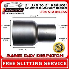 60mm to 50mm Stainless Steel Standard Exhaust Reducer Connector Pipe Tube