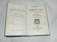 elements de la grammaire latine a l'usage des colleges par lhomond , 1850