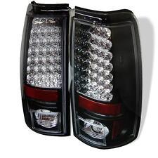 Tail Lights Chevy Silverado 99-02 GMC Sierra 99-03 Fleetside LED - Black