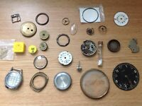 Vintage Watch & Pocket Watch Parts From Watchmakers Collection Spares