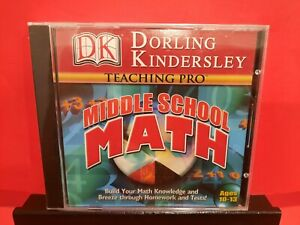 Dorling Kindersley Teaching Pro Middle School Math PC CD-ROM BRAND NEW - B667