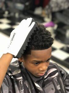 Curl Sponge Hand Glove PREMIUM - Afro Hair Twist Curls (white)