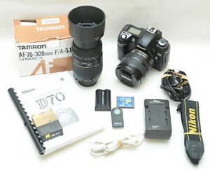 Nikon D70 DSLR with 18-70mm, 70-300mm + Extras. Entry Level Kit