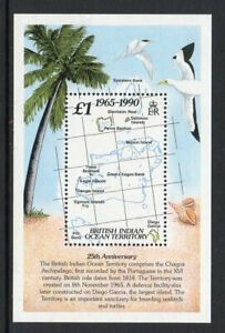 British Indian Ocean Terr. 1990 25th Anniversary min. sheet fine fresh MNH