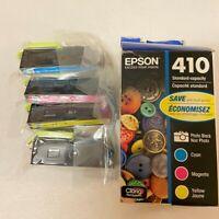 Epson 410 Black 410 Color Combo Ink Cartridges, Genuine, Plastic Bag is sealed