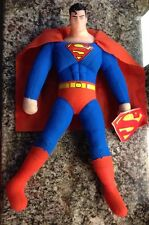 "Nwt Super-Man Figure Stuffed Plush Vinyl Head 2006 Dc Comics Kelly Toys 15"" •"