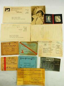 Tanita Covey Actress Lot of 12 Memorabilia Items Screen Actors and Other 1940's