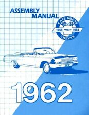 CHEVROLET 1962 Impala/Bel Air Assembly Manual 62 Chevy