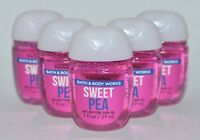 LOT OF 5 BATH & BODY WORKS SWEET PEA POCKETBAC ANTI BACTERIAL HAND GEL SANITIZER