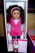 2008 American Girl Doll Just Like You Retired Box Book Drk Brown Hair Green Eyes