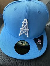 NFL New Era Houston Oilers Baby Blue Fiftynine Fifty 7 1/2 Fitted Hat Polyester