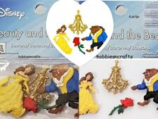 DISNEY DRESS IT UP BUTTONS  - BELLE BEAUTY & THE BEAST 4 BUTTONS - POSTAGE DEAL