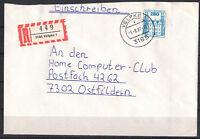 BRD, Einschreiben MiNr. 1142 EF TSt Velpke 03.08.1987
