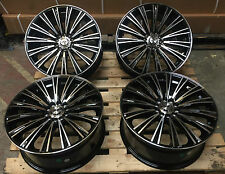 "18"" TURIP ALLOY WHEELS FITS BLACK POLISHED 5x108 FITS FORD FOCUS ST MONDEO VOLVO"