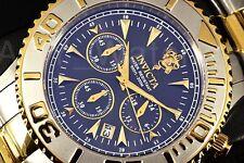 Invicta Sea Base Oyster Ocean Dragon 2-Tone Blk Dial Chronograp SS Bracelet Watc