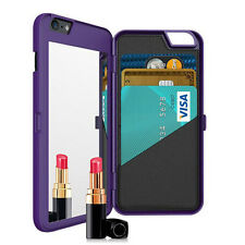 Case Cover For Apple iPhone 6 6S Plus Luxury Practical Flip Mirror Wallet