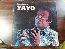 Yayo El Indio Simplemente Yayo LP 1973 Alegre Latin Vinyl Record FREE SHIP
