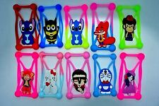 lot of 100X Universal Silicone Phone Case 3D cartoon cover elastic frame pack
