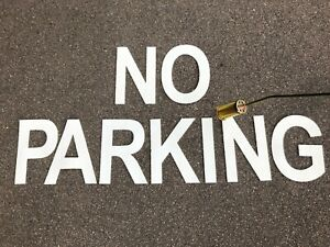WHITE PREFORMED THERMOPLASTIC ROAD MARKING WORDS(NO PARKING,DISABLED) 200mm