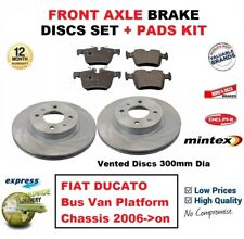 FOR FIAT DUCATO Bus Van Platform Chassis 2006->on FRONT BRAKE PADS + DISCS 300mm