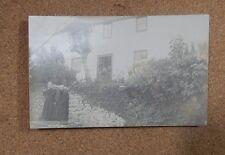 Edwardian 2 Old ladies posing outside Lancashire cottage. unposted . RPPc xc1