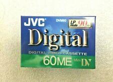 JVC Digital Video Cassette 60ME Mini DV 90 Minutes DVM60 M-DV60ME New LP Mode