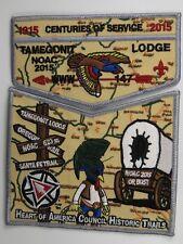 2015 NOAC Centennial OA Tamegonit Lodge 147 GRY BDR 2pc Flap signs [S445]